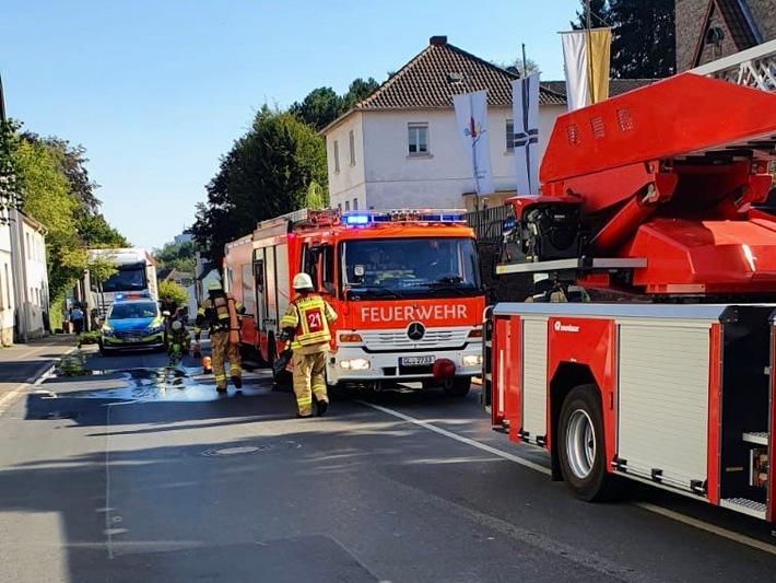 Bergisch Gladbach:  Feuer in Restaurantküche