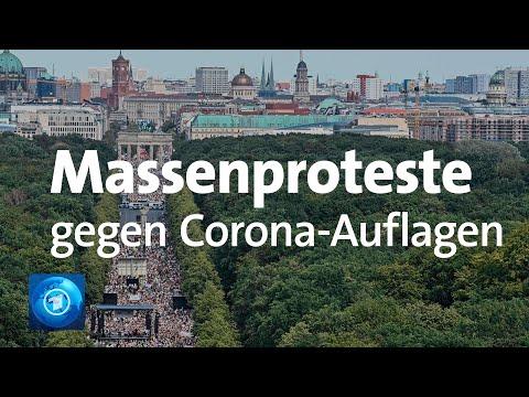 Zehntausende protestieren in Berlin gegen die Corona-Beschränkungen
