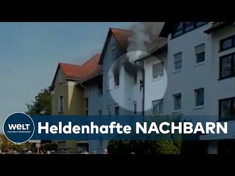 DRAMATISCHE RETTUNGSAKTION: Nachbarn retten Familie aus brennenden Haus