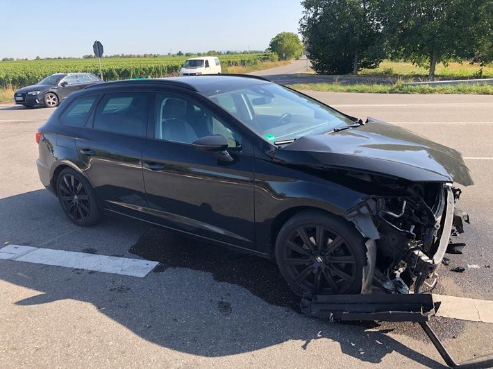 Roschbach: Vorfahrtsunfall mit verletzter Person
