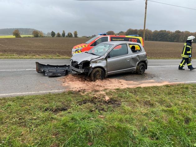 Bad Salzuflen: Verkehrsunfall mit zwei verletzten Personen