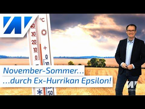 ex-Hurrikan bringt den Novembersommer! 20 Grad an Allerheiligen! Wo steckt die Winterluft?