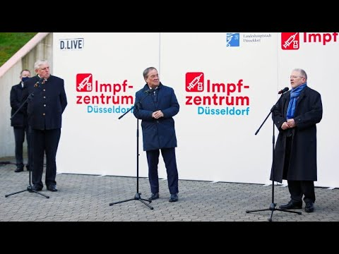 """Armin Laschet in Düsseldorfer Impfzentrum: """"Ab morgen überall vor Ort impfen"""""""