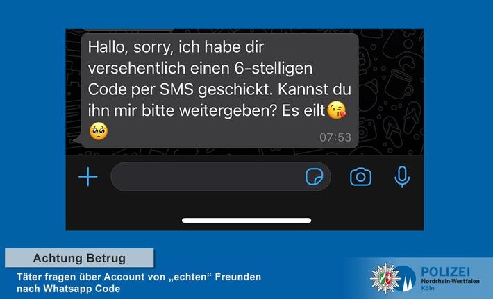 """Warnung vor WhatsApp Betrug – """"Freunde"""" fragen nach Code"""