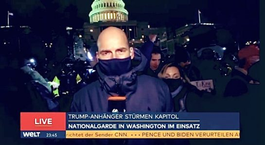 Angriff auf US-Kongress in Washington: WELT erzielt am Mittwochabend mit knapp vierstündiger Live-Sendung 3,3 Prozent Marktanteil