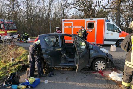 Groppenbruch: Pkw-Fahrer nach Unfall verletzt