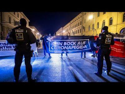 Proteste gegen Corona-Beschränkungen in München