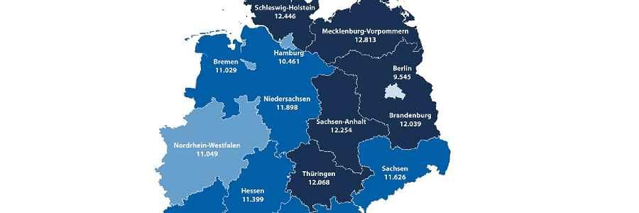 Kfz-Versicherung: Meiste gefahrene Kilometer in Mecklenburg-Vorpommern
