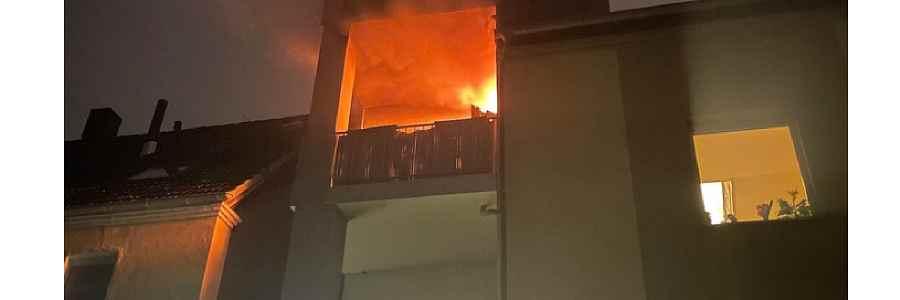 Witten: Brand auf einem Balkon
