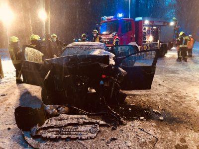 B71: Eisregen führte zu einem tödlichen Verkehrsunfall