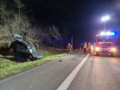 A3: Verkehrsunfall auf Autobahn – Zunächst eingeklemmte Person gemeldet