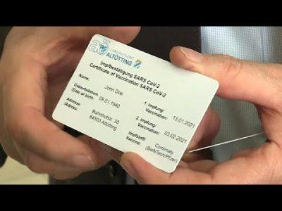 Pläne für EU-Corona-Impfpass – Altötting in Bayern im Alleingang
