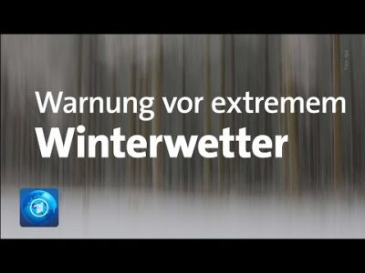 Starker Schneefall und Glatteis in Teilen Deutschlands erwartet