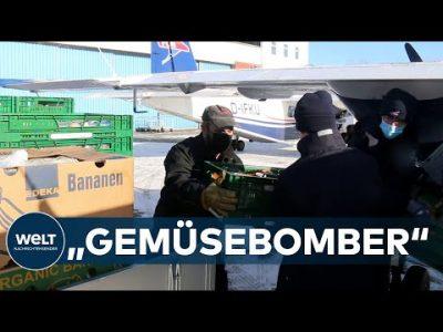 WINTERCHAOS in Deutschland: Luftbrücke versorgt Wangerooge