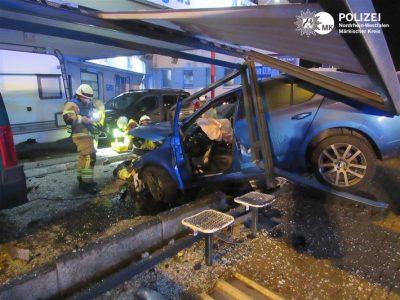 Spektakulärer Verkehrsunfall am Bräuckenkreuz