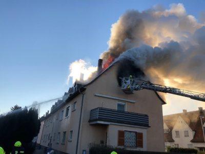Worms: Brand im Dachgeschoß eines Mehrfamilienhauses
