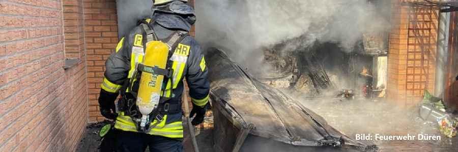 Warendorf: Hoher Sachschaden bei Wohnhausbrand