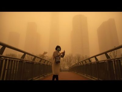 Sandstaub in Peking: Eine Stadt sieht gelb