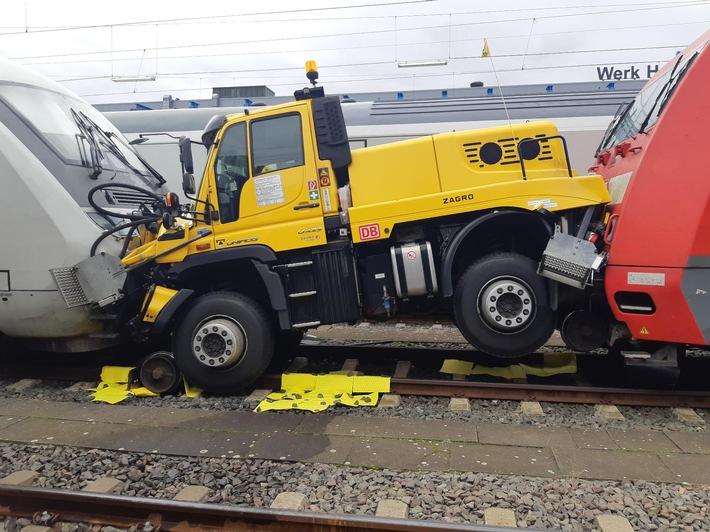 Hannover: Rangierunfall mit erheblichem Sachschaden im Bereich Pferdeturm