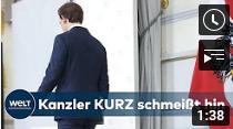 PAUKENSCHLAG: Österreichs Kanzler Sebastian Kurz tritt nach Korruptionsvorwürfen ab