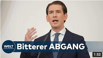 TEFLON-TAKTIK GESCHEITERT: Rücktritt – Österreichs Kanzler Sebastian Kurz gab gestern auf